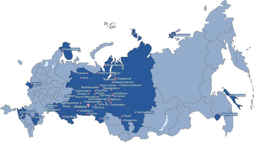 Карта продаж бытовок